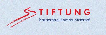 """Logo der """"Stiftung barrierefrei kommunizieren!"""""""