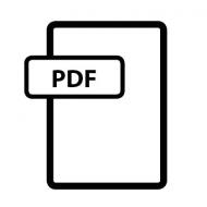 Eine Grafik eines Dokuments, das als PDF gekennzeichnet ist