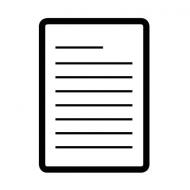 Eine Grafik eines Blatt Papiers. Schrift ist in Form von Linien dargestellt.