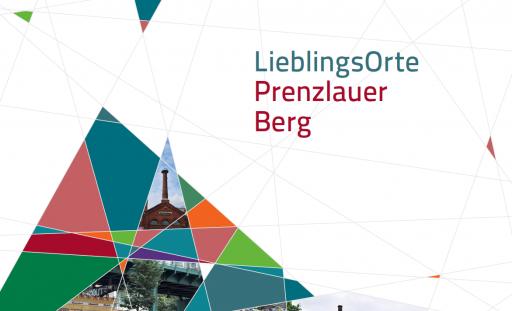 """Das Deckblatt einer Broschüre mit dem Titel """"LieblingsOrte Prenzlauer Berg"""""""