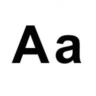"""Zweimal der Buchstabe """"A"""" - einmal groß- einmal kleingeschrieben"""