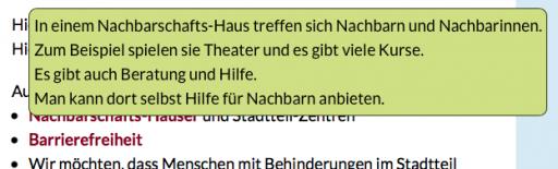Screenshot einer Erklärung zu einem Wort auf der Webseite www.stadt-inklusive.de