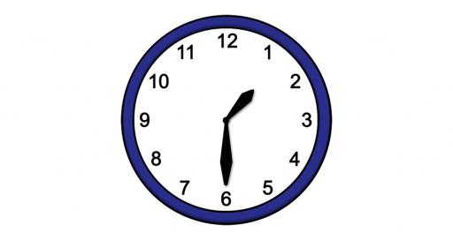 Grafik mit der Uhrzeit: 13:30 Uhr