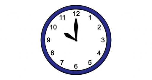 Grafik mit der Uhrzeit: 10:00 Uhr