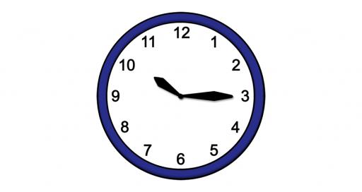 Grafik mit der Uhrzeit: 10:15 Uhr