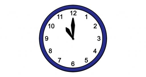 Grafik mit der Uhrzeit: 11:00 Uhr