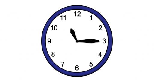 Grafik mit der Uhrzeit: 11:15 Uhr