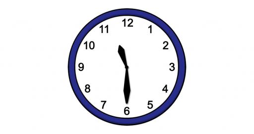 Grafik mit der Uhrzeit: 11:30 Uhr