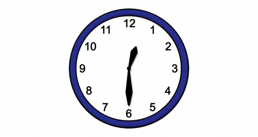 Grafik mit der Uhrzeit: 12:30 Uhr