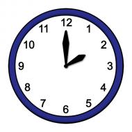 Grafik mit der Uhrzeit: 14:00 Uhr
