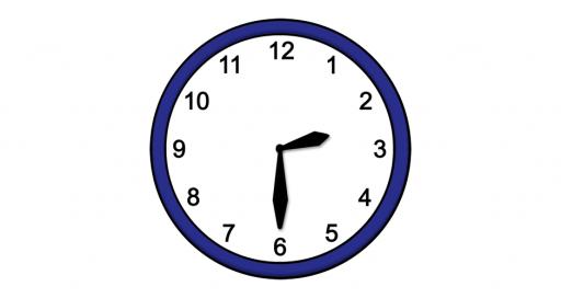 Grafik mit der Uhrzeit: 14:30 Uhr